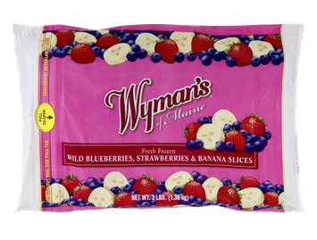 Wymans Wyman's of Maine Frozen Wild Blueberries, Strawberries & Banana Slices, 3 Lb (Frozen)