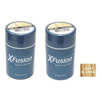 Xfusion Keratin Hair Fibers,Two Pack Value 2 x 12 gr/0.42 oz LIGHT BLONDE