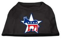 Mirage Pet Products 517601 MDBK Democrat Screen Print Shirts Black M 12