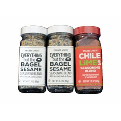 Trader Joes Everything but the Bagel Sesame Seasoning BlendTrader Joes Chile Lime Seasoning Blend
