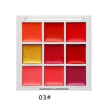 Hunputa Lipstick,Professional 9 Color Women Waterproof Matte Lip Gloss Palette Long Lasting Lipstick Makeup