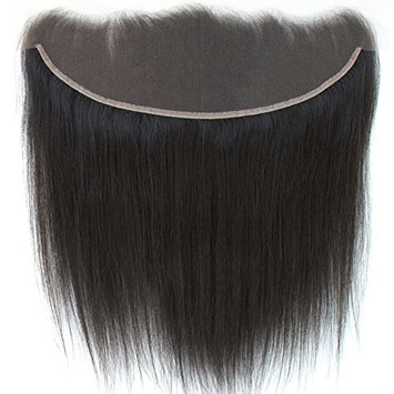 ZM Hair 13x4 Lace Frontal Straight Brazilian Hair Ear To Ear Free Parting Full Lace Frontal Closure 18 inch