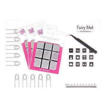 Nail Art Soft Silicone Fairy Mat Work Table Protector Pad Nail Stencils Vinyls Polish Image Transfer Set