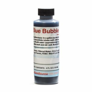 Blue Bubble Gum Shaved Ice and Snow Cone Flavor Concentrate 4 Fl Ounce Size
