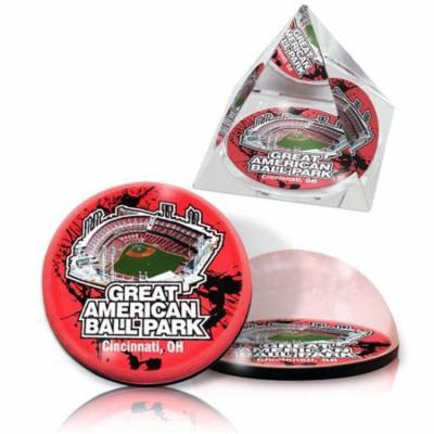 IKE & ZELDA GREATAMSET MLB Great American Ballpark on 2 in. K9 Quality, optical grade Crystal pyramid & magnet
