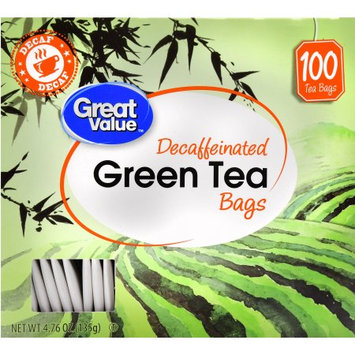 Wal-mart Stores, Inc. Great Value Decaffeinated Green Tea Bags, 100 ct, 4.76 oz