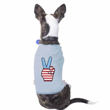 American Flag Peace Sign Independence Day T Shirt For Small Dogs