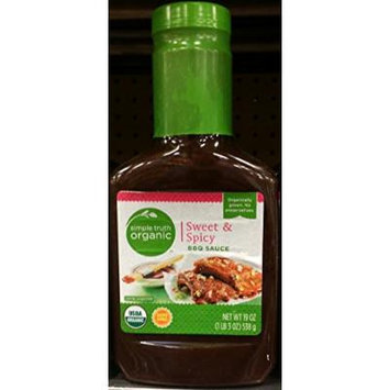 Simple Truth Organic Sweet & Spicy BBQ Sauce 19 oz (Pack of 3)