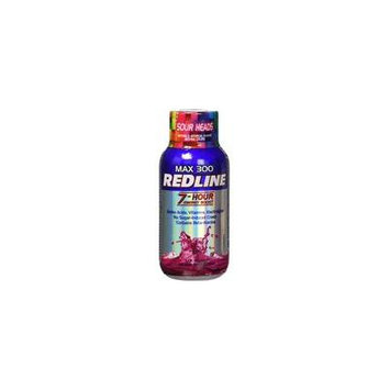 VPX Redline Power Rush 7-Hour Energy Max 300 Supplement, Sour Heads, 2.5 Ounce (Pack of 12)