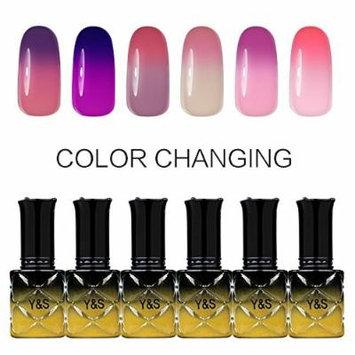 Y&S Gel Nail Polish,Temperature Color Changing Soak-off UV LED Lacquer Varnish Nail Kits-#005