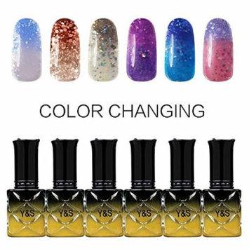 Y&S Gel Nail Polish,Temperature Color Changing Soak-off UV LED Lacquer Varnish Nail Kits-#007