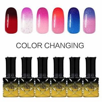 Y&S Gel Nail Polish,Temperature Color Changing Soak-off UV LED Lacquer Varnish Nail Kits-#004