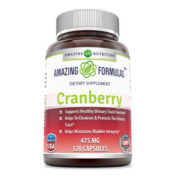 Amazing Nutrition Cranberry 100% Natural Supplement - 475mg 120 Capsules?