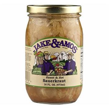 Jake & Amos Sweet and Hot Sauerkraut 16 Oz. (2 Jars)