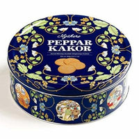 Nyakers Gingersnaps Gift Tin 14 oz each (3 Items Per Order)