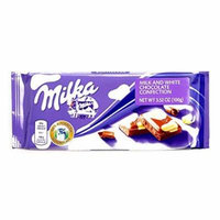 Milka Spotted Milk and White Chocolate Bar 3.5 oz each (2 Items Per Order)