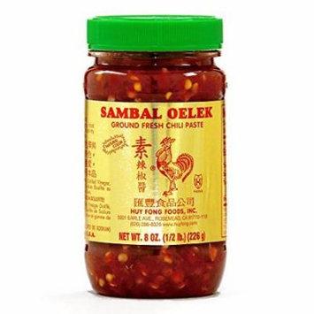 Huy Fong Chili Paste Sambal Oelek 8 oz each (4 Items Per Order)