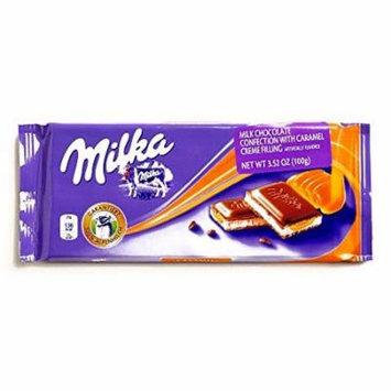 Milka Caramel Cr��me Chocolate Bar 3 oz each (2 Items Per Order)