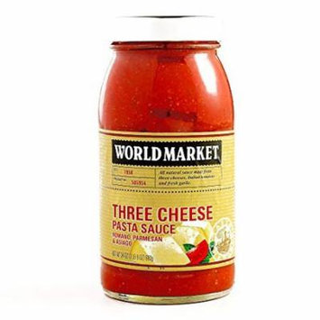 Three Cheese Pasta Sauce 24 oz each (5 Items Per Order)
