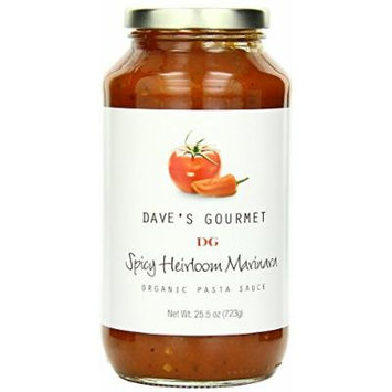 Dave's Gourmet 3 Piece Spicy Heirloom Marinara Organic Pasta Sauce, 25.5 Ounce