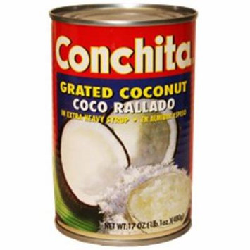 Grated coconut in syrup by Conchita. 17 oz