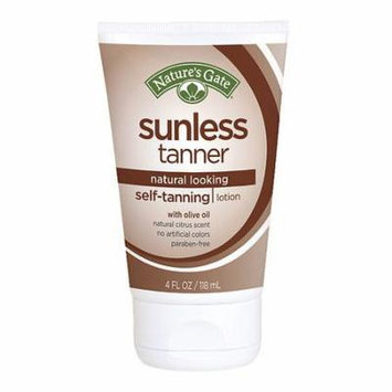 Nature's Gate Sunless Tanner, Self Tanning Lotion 4.0 fl oz(pack of 1)