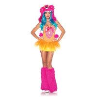 Leg Avenue Women's 2 Piece Shaggy Shelly Monster Costume, Pink/Yellow, Small/Medium