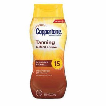 Coppertone Tanning Lotion Sunscreen, SPF 15 8.0 fl oz(pack of 2)