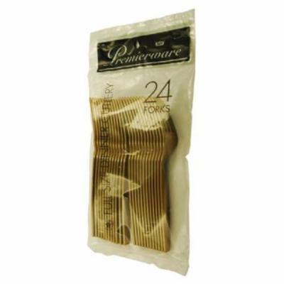 Maryland Plastics P50429 GLD Forks Gold 24/Pack