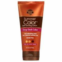Banana Boat Sunless Summer Color Self Tanning Lotion, Deep Dark 6.0 fl oz(pack of 12)