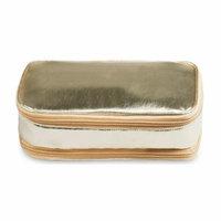 H:oter Women & Girls Waterproof Bag Organiser/Cosmetic Case/Jewellery Case/Travel Organiser - Gold