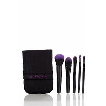 Crown Brush 5-piece Professional Make-Up Brush Set with Case