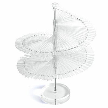 Pro Spiral Fan Shape Display Stand Holder with 120 Pcs False Nail Tips Stick for Nail Art Gel and Polish Color Chart Book,Clear Color by BnG