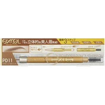 EXCEL Powder & Pencil Eyebrow PD11 Apricot Brown