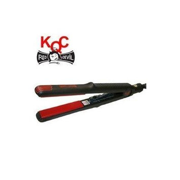 KQC Red Devil Ceramic & Tourmaline Flat Iron 1 Inch (Receive Free Mini Flat Iron with Purchase) by KQC