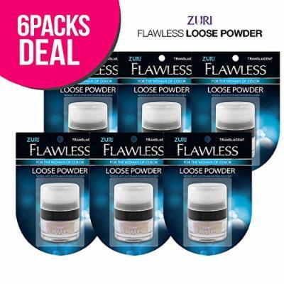 Zuri Flawless Loose Powder - Translucent (Pack of 6)
