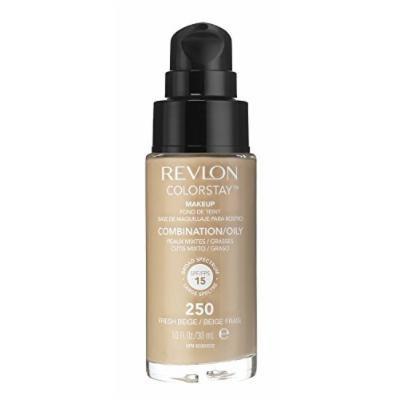 3 x Revlon Colorstay Pump 24HR Make Up SPF15 Comb/Oily Skin 30ml - Fresh Beige