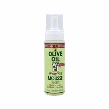 Organic R/S Root Stimulator Olive Oil Wrap Set Mousse, 7 Ounces (Pack of 2) by Organic R/S