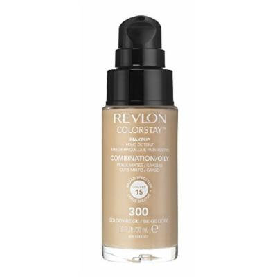 2 x Revlon Colorstay Pump 24HR Make Up SPF15 Comb/Oily Skin 30ml - Golden Beige
