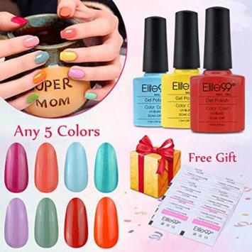 Elite99 Pick Any 5 Colors Soak Off Gel Nail Polish UV LED Color Nail Art Gift Set + 20 PCS Free Elite99 Gel Polish Remover Wraps