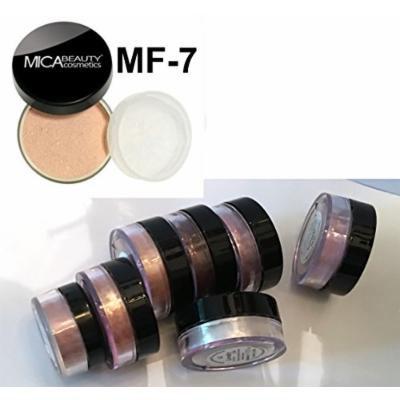 Bundle 8 Items: Mica Beauty Mineral Foundation +7 Eye Shimmer Nude Itay Mineral Cosmetics (MF-7 LADY GODIVA)