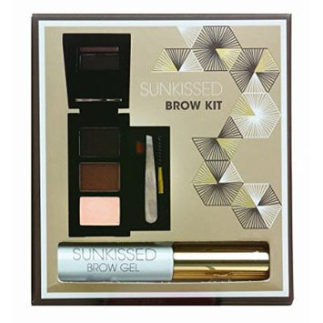 SUNkissed Brow Kit Gift Set 2 x Eye Brow Powder + Highlighter Powder + Brow Gel + Tweezers