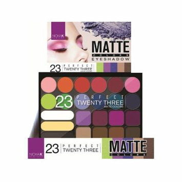 NICKA K Perfect Twenty Three Colors Matte Eyeshadow Palette Display Case Set 12 Pieces 9A