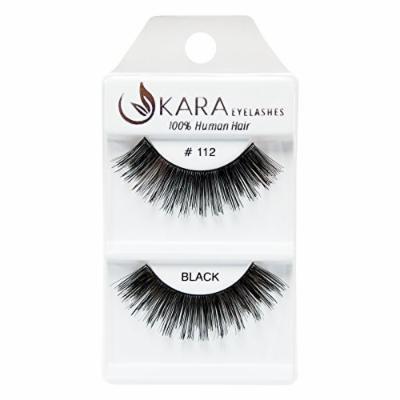 Kara Beauty 100% Human Hair False Eyelashes # 112 (12PACK)