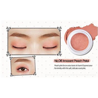 Peripera Wholly Deep VELVET Pot Eye Shadow (1+1) Buy 1 Get 1 (#6 Innocent Peach Petal, #1 Lady Beige)