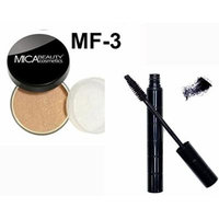 Bundle 2 Items: Mica Beauty Mineral Loose Powder foundation 9 Gram + Itay Mineral Black Mascara for long Lashes (MF3-TOFFEE)