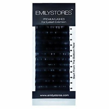 EMILYSTORES Eyelash Extensions Individual Loose Signature Mink Eyelash J Curl Thickness 0.15mm Length 8mm 9mm 10mm 12mm 14mm Silk Lashes Assort Mixed In One Tray by EMILYSTORES