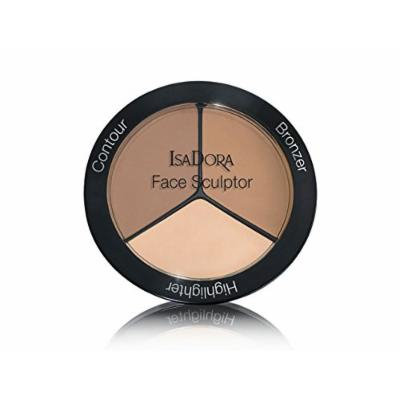 IsaDora Face Sculptor - Bronzer, Blusher, Highlighter in one pack - 18 g / 0.63 Oz. - Fragrance free, Clinically tested (03 Nude)