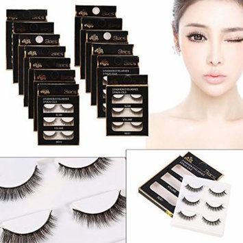 False Eyelashes,14 Pack/42 Pairs Difference Size Natural Pure Hand-made Soft Thick Long Voluminous Eye Lashes