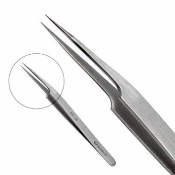 BioTouch Stainless Steel Professional Tweezers for Eyelash Extensions False lashes Curved tip Extra Fine tip Classic tip Lash Pick up Tweezers (Extra Fine Tip)